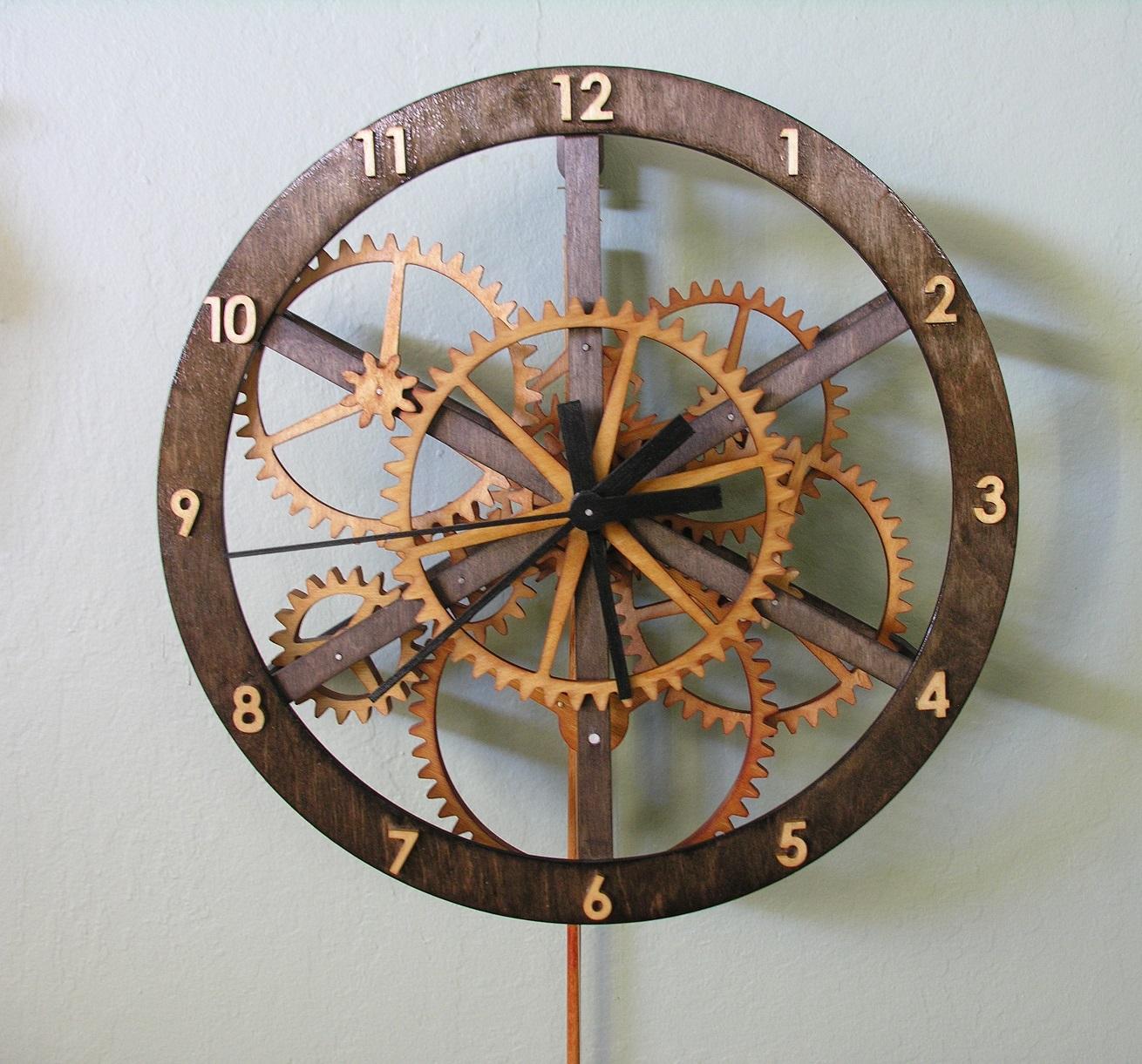 simple wooden clock plans wooden gear clock plans pdf wooden gear ...